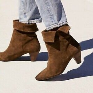 FREE PEOPLE Adella Heel Boot - Olive -Size 8 - NEW